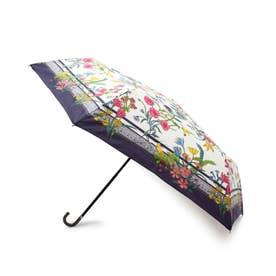 スカーフプリント晴雨兼用折り畳み傘 (ネイビー)