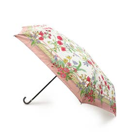 スカーフプリント晴雨兼用折り畳み傘 (ピンク)