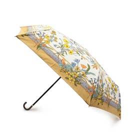 スカーフプリント晴雨兼用折り畳み傘 (ライトベージュ)