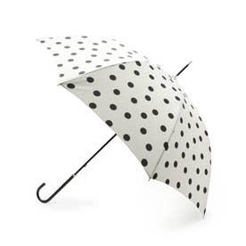ドットプリントアンブレラ(長傘) (オフホワイト)