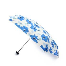 ペインタリーフラワー晴雨兼用折り畳み傘 (ライトブルー)