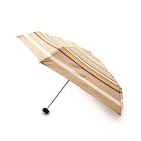 マルチボーダーコンパクト晴雨兼用折り畳み傘 (ライトベージュ)