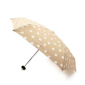 ドットミニ晴雨兼用折り畳み傘 (ライトベージュ)