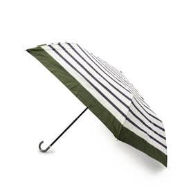 リムボーダー晴雨兼用折り畳み傘 (ダークグリーン)