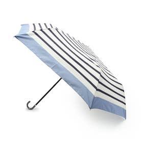 リムボーダー晴雨兼用折り畳み傘 (ライトブルー)