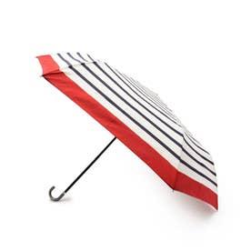 リムボーダー晴雨兼用折り畳み傘 (ワインレッド)