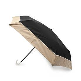 プレーンバイカラー晴雨兼用折り畳み傘 (ブラック)