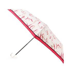 継続はっ水ウェーブリボン折り畳み傘 (ピンク)