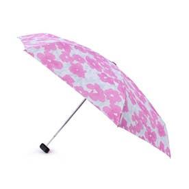 継続はっ水グラデーションフラワー折り畳み傘 (ピンク)