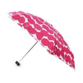 継続はっ水フルーツ折り畳み傘 (ワインレッド)