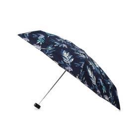 ボタニカル柄持続はっ水ミニ傘 (ネイビー)