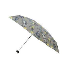 ボタニカル柄持続はっ水ミニ傘 (グレー)