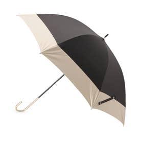 バイカラー長傘(晴雨兼用) (ブラック)