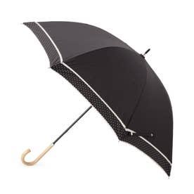 ドットピコレース日傘(長傘・晴雨兼用) (ブラック)