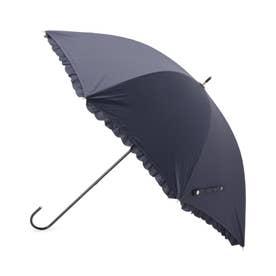 フリル日傘(長傘・晴雨兼用) (ネイビー)