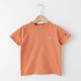 【100-130cm】champion ベーシックコットン(綿)Tシャツ (ライトオレンジ)