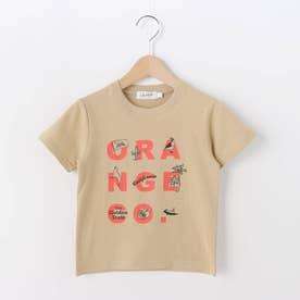 【100-140cm】オレンジカウンティ天竺Tシャツ (ライトベージュ)