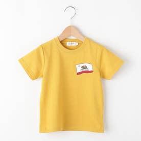 【100~140cm】カリフォルニアフラッグ天竺Tシャツ (レモンイエロー)