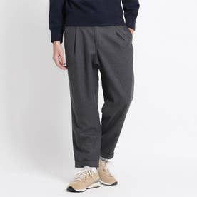 GRAMICCI WOOL BLEND TUCK TAPERED PANTS (チャコールグレー)