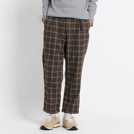 GRAMICCI WOOL BLEND TUCK TAPERED PANTS (ディープブラウン)