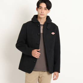 DANTON 丸襟ウールモッサジャケット (チャコールグレー)