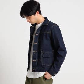【S~Lサイズあり】リバーシブルデニムジャケット (ネイビー)