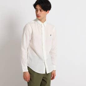 Gymphlex リネンボタンダウンシャツ (ホワイト)