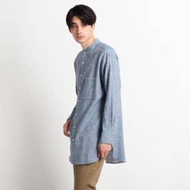 綿麻シャンブレーシャツ (ブルー)