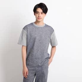 綿麻シャンブレー&ジャージTシャツ (グレー)