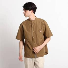 DANTON LINEN BROAD バンドカラーシャツ (キャメル)