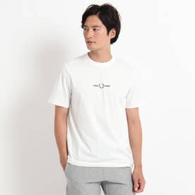 FRED PERRY ロゴ刺繍Tシャツ (ホワイト)