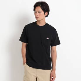 DANTON クルーネック半袖ポケットTシャツ JD-9041 (ブラック)