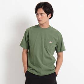 DANTON クルーネック半袖ポケットTシャツ JD-9041 (カーキ)