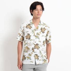 TWO PALMS ハワイアン柄アロハシャツ (ホワイト)