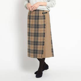 【デッサン別注・XSサイズあり】O'NEIL of DUBLIN キルトスカート (キャメルブラック)