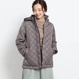 【S-Lサイズあり・2WAY】中綿キルトジャケット (ダークグレー)