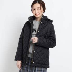【S~Lサイズあり・2WAY】中綿キルトジャケット (ブラック)