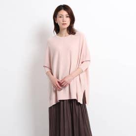 【XS~M】変形ドルマンニット (ピンク)