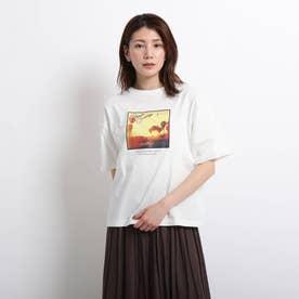 【XS~Lサイズあり・洗える】フォトプリントTシャツ (アイボリー)