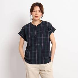 【XS~L】スキッパーブロードシャツ (モスグリーン)