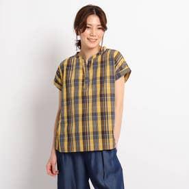 【XS~L】スキッパーブロードシャツ (マスタード)