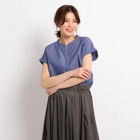 【XS~L】スキッパーブロードシャツ (ダークネイビー)