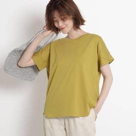 【XS~L・手洗い】クルーネックコットンカットソー (マスタード)