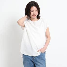【XS~L・手洗い可能】シャツテールTシャツ (ホワイト)