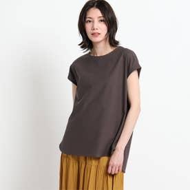 【XS~L・手洗い可能】シャツテールTシャツ (ディープブラウン)