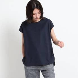 【XS~L・手洗い可能】シャツテールTシャツ (ネイビー)