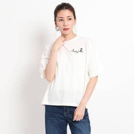 【S~L】オレンジカウンティTシャツ (アイボリー)