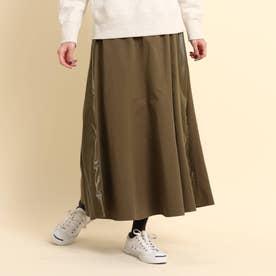 【XS~Lサイズあり・ウエストゴム】プリーツスカート (カーキ)