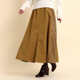 【XS~Lサイズあり・ウエストゴム】プリーツスカート (キャメル)