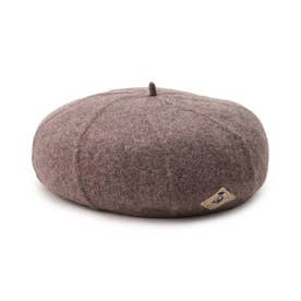 【CLASSY.12月号掲載】ライン刺繍ベレー帽 (ライトベージュ)
